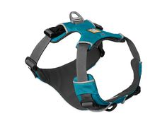 The Ruffwear Front Range Harness is an everyday harness that is easy to fit and put on, and comfortable for dogs to wear. The harness features two leash attachment points: an aluminum V-ring centered on the dog's back for everyday walks, and reinforced we Dog Harness, Dog Leash, Ranger, Front Range, Dog Store, Pacific Blue, Dog Supplies, Dog Training, Dog Tags