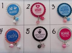 Labor/ Delivery Nurse Badge Reel Tops  *PICK ONE* on Etsy, $3.00