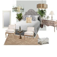 Relaxing Master Suite - by kate - features Benjamin Moore wall paint color.  #ProjectDecor #ProjectColor #BenjaminMoore