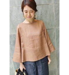 I like it,,,simple blouse Linen Blouse, Blouse Dress, Modest Fashion, Fashion Outfits, Womens Fashion, Fashion Mumblr, Girl Outfits, Cute Casual Outfits, Fashion Sewing