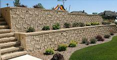 Home using Newcroft retaining wall
