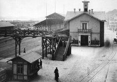 Der alte Mainzer Bahnhof an der Rheinstraße 1884.