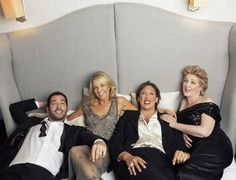 In bed with Miranda Hart ... what fun! - ES Magazine - Life & Style - London Evening Standard (Tom Ellis, Sarah Hadland, Miranda Hart, Patricia Hodge)
