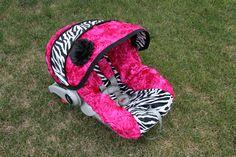 Zebra baby girl carseat