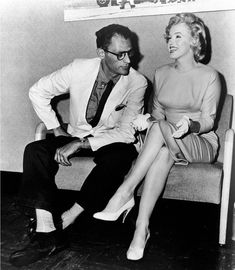 "Marilyn Monroe and Arthur Miller on their arrival in England, where Marilyn will film ""The Prince and The Showgirl"", July 1956."