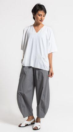 Oska Cotton Tove Pants in Stone Grey   Santa Fe Dry Goods & Workshop #oska #oskaclothing #cotton #pants #casual #ss17 #spring #summer #fashion #style #clothing #santafe #santafedrygoods