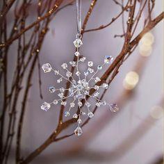 KUFER: Boże Narodzenie - śnieżynka kryształowa na choinkę...