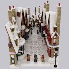 Harry Potter Display, Lego Winter Village, Lego Hogwarts, Lego Dragon, Lego Display, Lego Sculptures, Lego Christmas, Amazing Lego Creations, Lego Minifigs