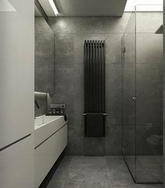carrelage de salle de bain en ardoise et idée d'amenagement