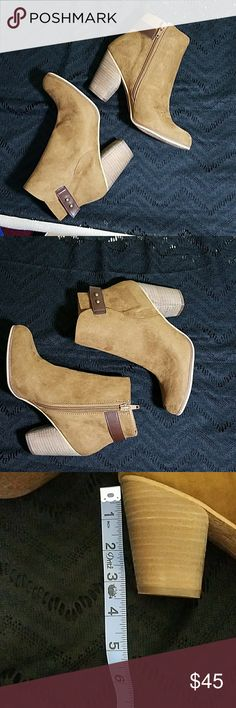 NWB Abound Loren Bootie Cognac/Brown Faux Suede NWB Abound Loren Bootie Cognac/Brown Faux Suede.  Never worn. Abound Shoes Ankle Boots & Booties