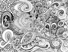 kleurplaat moeilijk octopus