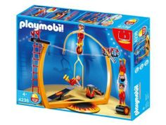 Playmobil Circus Tightrope Artists by Playmobil. $24.37. 4236. Playmobil Tightrope Walker Set. Ages 4+. tightrope! Jump onto the unicycle and wheel across the rope. Features a tightrope that fits inside the circus ring (sold separately). Includes four tightrope walkers with specially molded feet for rope walking!