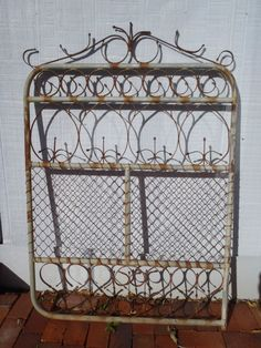 ANTIQUE SCROLL WROUGHT IRON GARDEN GATE   PICK UP PERTH W.A. | EBay