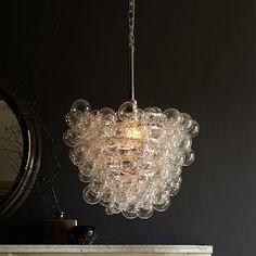 Droplet Glass Pendant #westelm. Master bedroom sitting room light option, if needed