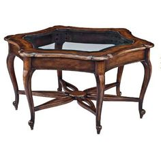 Hekman Accents Glass Top Coffee Table