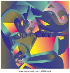 Abstract Colorful fractal background pattern illustration - stock vector