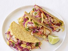 Shrimp Tacos With Mango Slaw Recipe : Food Network Kitchen : Food Network - FoodNetwork.com