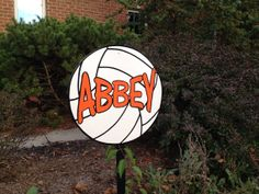 Volleyball yard sign mounted on a stake) Volleyball Locker Decorations, Volleyball Signs, Volleyball Bows, Basketball Signs, Softball, Cheerleading, Soccer, Sports Signs, Sports Decor