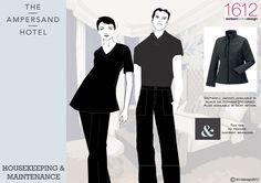 Housekeeping & Maintenance Ampersand Hotel, Housekeeping, Branding, Jackets, Black, Design, Down Jackets, Brand Management, Black People