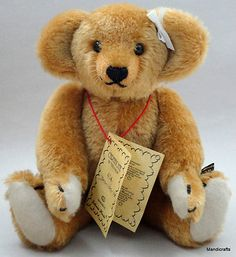 """Vintage Artist Teddy """"My Dream Bear"""" Mohair Plush 1994 by Johanna Haida, Germany"""