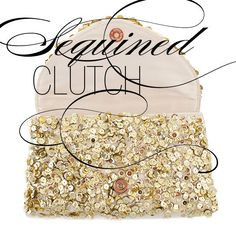DIY sequin clutch not from sequin fabric