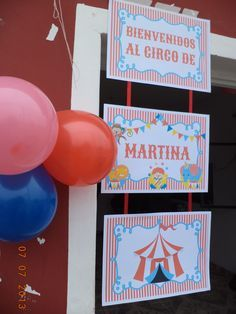 cartel bienvenidos circo - Buscar con Google