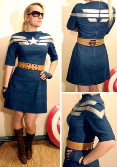 Captain America inspired dress. WANT!