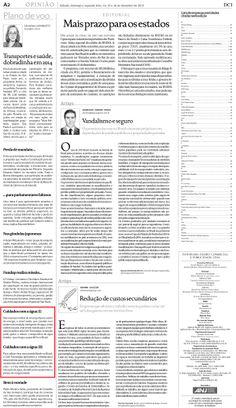 Título: Cuidados com a água. Veículo: jornal DCI. Data: 16/12/2013. Cliente: CAS Tecnologia.