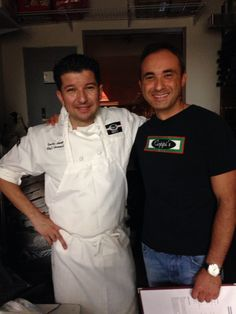 Owner, chef, sommelier Carlos Amaya and an O.G. of the Coppi's Organic team, Adrian