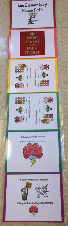 """""""peace path"""" for practicing I messages and problem solving in lessons"""