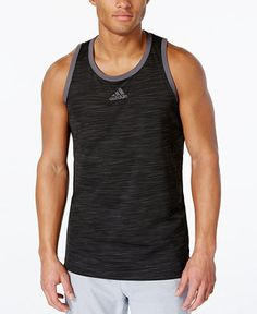 adidas Men's Heathered Tank Top - T-Shirts - Men - Macy's