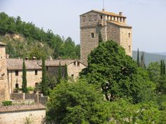 At the top of the tower, high above the village of Stigliano, the windows of Tower 4 have a bird's eye view of the village and the countrysi...