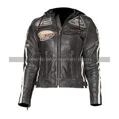 men's cobra kai black cowhide real leather biker karate