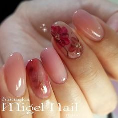秋フラワーネイルParagelローズブラウン✴◆お知らせ◆2018年1月より平日も営業開始します☆ご予約はブログのLINEから承っております!『ミジェルネイル...|ネイルデザインを探すならネイル数No.1のネイルブック Fabulous Nails, Perfect Nails, Gorgeous Nails, Pretty Nails, Nude Nails, Pink Nails, Flower Nail Art, Gel Nail Designs, Nail Arts