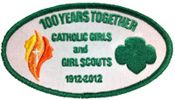 The National Committee for Girl Scouts USA and Camp Fire USA 100th Anniversary Catholic Girls patch