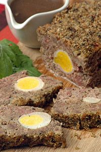 Meatloaf with Bacon and Egg