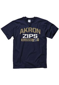 Show everyone you root for the Zips with this Akron Zips Mens Navy Blue Alumni Short Sleeve T Shirt! Rally House has a great selection of new and exclusive Akron Zips t-shirts, hats, gifts and apparel, in-store and online. Short Sleeve Tee, Short Sleeves, Akron Zips, Team Names, Cool Shirts, Blues, Navy Blue, Unisex, Rally