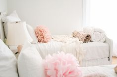 Paint is Martha Stewart Newsprint. Beds are semi gloss bm decorator white coat 1 and bm white dove on top. Fav gray is horizon