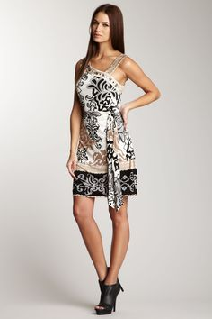 Hale Bob  Beaded Asymmetrical Dress  $316.00