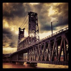 Time for Okay, fans. You may know the name of this bridge, but do you know when it was built? Portland Bridges, Oregon Territory, Oregon Country, Love Bridge, Downtown Portland, Pacific Coast, Brooklyn Bridge, Road Trips, Nevada
