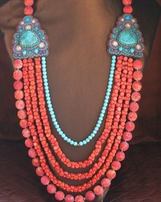 Sponge Coral & Turquoise Necklace - http://www.studentrate.com/School/Deals/Accessories.aspx