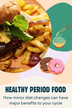 Everyone has their own comfort foods at those low points, but did you know that with a few minor switchups you can have a better, healthier menstrual cycle? Menstrual Cycle, Comfort Foods, Benefit, Period, Diet, Healthy, Ethnic Recipes, Health, Banting