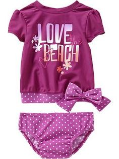 Graphic Rashguard Swim Sets for Baby | Old Navy $15.00