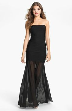 JS Collection Drop Waist Trumpet Gown available at Nordstrom