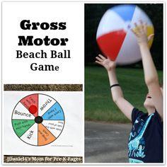 Gross Motor Beach Ball Game - Beach Ball - Ideas of Beach Ball - Gross Motor Beach Ball Game for preschool Preschool Movement Activities, Gross Motor Activities, Beach Activities, Preschool Lesson Plans, Therapy Activities, Preschool Activities, Games For Preschoolers, Music Activities, Physical Activities