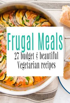 Frugal meals can make such a difference to your weekly expenses. Here we have 27 lovely vegetarian recipes to help you make your budget meals brilliant. Cheap dinners really can be amazing #frugalfood #budgetrecipes #frugalmealls #vegetarian Frugal Meals, Budget Meals, Easy Meals, Vegetarian Recipes Easy, Vegetarian Cooking, Cheesy Leeks, Veg Stew, Veggie Fried Rice, Chickpea Coconut Curry