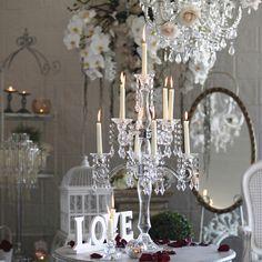 Chic Rustique Wedding Hire and Styling Products ~ www.chicrustique.com.au ~ Wedding Candelabra ~ Crystal Candelabra ~