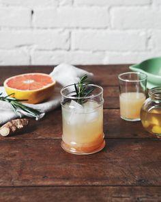 Ginger, Grapefruit + Rosemary Tonic