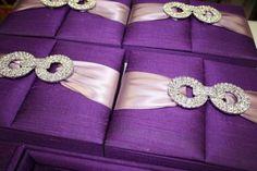 Purple Silk Invitation box