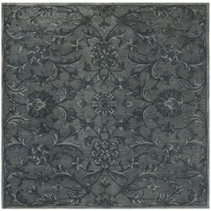 Antiquity Gray/Multi 6 ft. x 6 ft. Square Area Rug